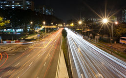 Traffic at a busy intersection 2. Capturing traffic at a busy intersection with long shutter speed Royalty Free Stock Photography
