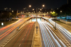 Traffic at a busy intersection 3. Capturing traffic at a busy intersection with long shutter speed Royalty Free Stock Images