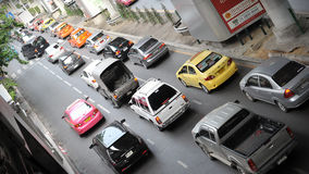 Traffic on a Busy Road in Bangkok Royalty Free Stock Photo