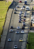Traffic - busy road with cars at a rush hour Stock Photo