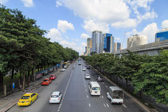 Traffic on the busy road Royalty Free Stock Photo