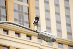 Traffic Camera on Street Light Royalty Free Stock Photo