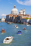 Traffic on Canal Grande Stock Photography