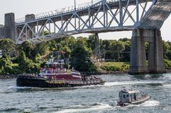 Traffic On the Cape cod Canal Royalty Free Stock Photo
