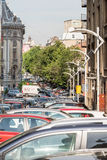 Traffic Car Jam In Downtown Bucharest Stock Image