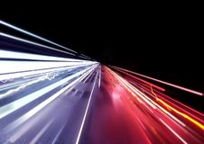 Traffic Car Light Trails. Background. 3D illustration Stock Photo