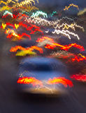 Traffic car lights effect Royalty Free Stock Photography