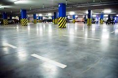 Traffic in car parking garage Royalty Free Stock Images
