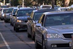 Traffic-Car in Traffic. Traffic-Line of Cars in Traffic Jam Stock Photos