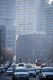 Traffic in the center of Berlin, Germany stock photo