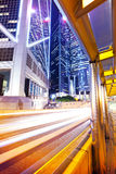 Traffic in central business district in Hong Kong Royalty Free Stock Images