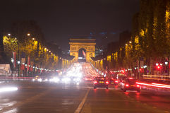Traffic in the champ elysees,Paris ,France Stock Photography