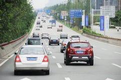 Traffic in chengdu Royalty Free Stock Photo
