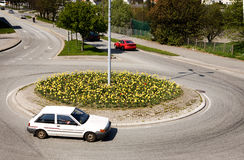 Traffic Circle Royalty Free Stock Photo