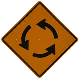 Traffic Circle Ahead Stock Photography