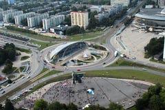 Traffic circle Stock Image