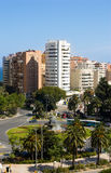 Traffic circle in Malaga Stock Photography
