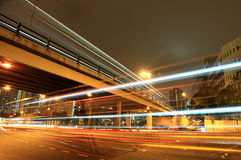 Traffic in city Stock Photos