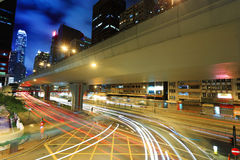 Traffic in city Royalty Free Stock Photos
