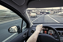 Traffic in the city Stock Photography