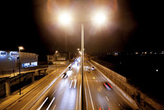 Traffic in the city background Stock Photography