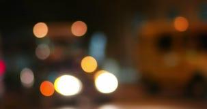 Traffic in a city defocused shot. Colorful night bokeh shot. Traffic in a city defocused shot. Colorful night bokeh set of shot stock video