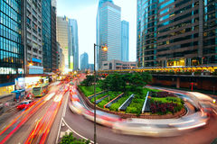 Traffic city dusk Stock Images