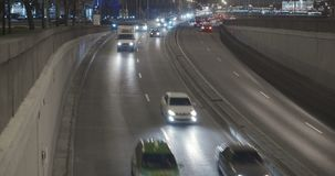 Traffic in the city evening stock video footage