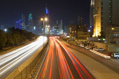 Traffic in the city of Kuwait Stock Photo