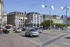 Traffic in the city of Lucerne Royalty Free Stock Photos