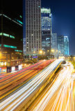 Traffic at city at night Royalty Free Stock Photography