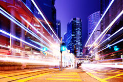 Traffic in city Royalty Free Stock Images