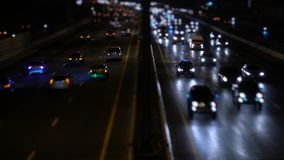 Traffic in city night stock video footage