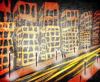 Traffic in the city Royalty Free Stock Photos