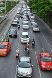 Traffic on a City Road Royalty Free Stock Photo