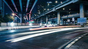 Traffic in the city on the road. Time Lapse Traffic in the city on the road bangkok,Thailand stock video footage