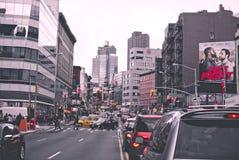 Traffic on City Street Stock Photo