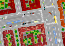 Traffic on city streets Royalty Free Stock Image