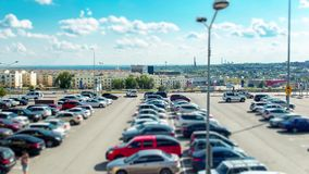 Traffic in the City. On a Sunny Day. Time Lapse stock video footage
