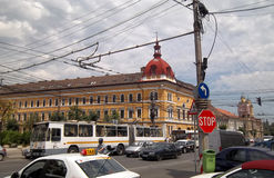 Traffic in Cluj-Napoca royalty free stock photography