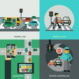 Traffic Concept Set Royalty Free Stock Photography