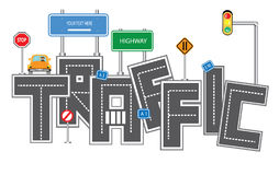 Traffic concept. Vector artwork design Stock Image