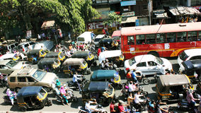Traffic condition in an Indian metro city Stock Image
