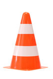 Traffic cone. Close-up of a traffic cone - isolated on white background Stock Photos