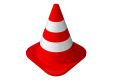 Traffic cone. Isolated on a white background royalty free illustration