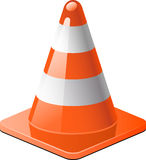 Traffic cone. Izolated over white. EPS 8 Stock Images