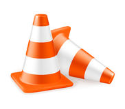 Traffic cone. On the white Royalty Free Stock Photography