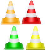 Traffic cone. Illustration of traffic cone in different colors stock illustration
