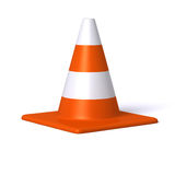 Traffic cone. Rendered traffic Cone isolated on white background Stock Images