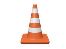 Traffic Cone. Orange highway traffic cone with white stripes Royalty Free Stock Image